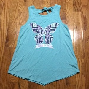 Girls tank top with tie in the back